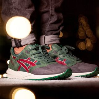 ASICS CHRISTMAS PACK2014 圣诞节Gel Saga dark green burgundy