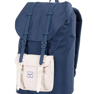 Herschel Supply Little America 拼色皮扣双肩包的图片