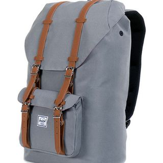 Herschel Supply Little America 纯色皮扣双肩包