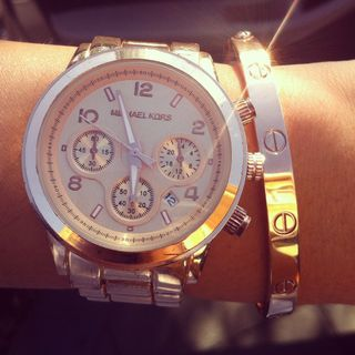 Rose Gold Runway Chronograph by Michael Kors - $250
