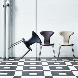 Upholstered Mosquito Chair by Arne Jacobsen