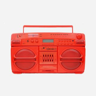 Red Lasonic Boombox