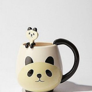 美国代购 urban outfitters Panda Friends Mug熊猫杯子/勺子
