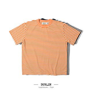 Dublin 经典横纹宽身T恤 Crew Neck StripeT-shirts D1704
