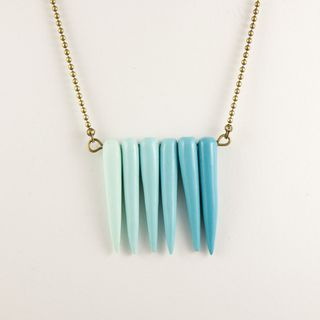 Nabi necklace ombre mint blue turquoise 森系 女士挂坠