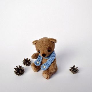 "Winter Artist Teddy Bear ""Misha"" - handmade, unique, collectible toy, ooak"