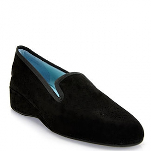 Thierry Rabotin - Zen - Black Suede Wedge Loafer的图片