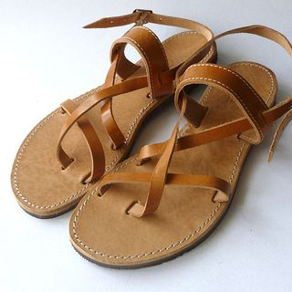 Greek Unisex  Leather Sandals的图片