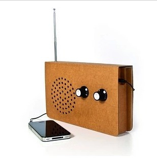 英国 SUCK UK iphone cardboard radio 纸板收音机音响