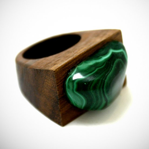 Malachite Ring by Sophie Monet