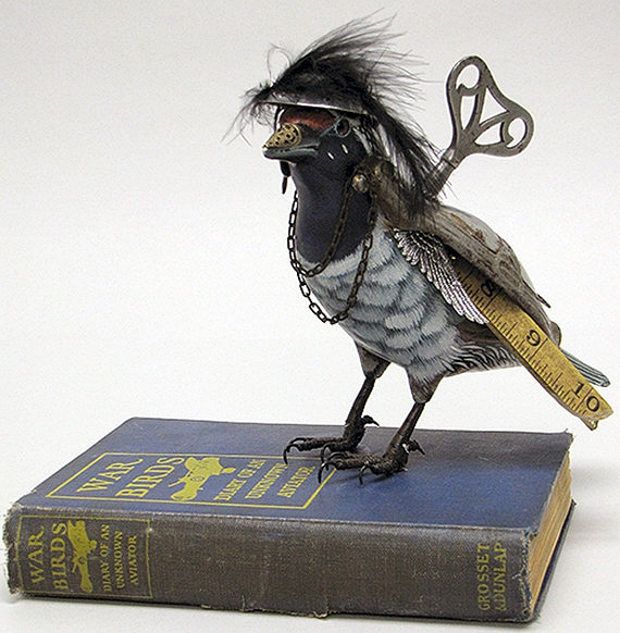 War Bird is a Steampunk Bird sculpture