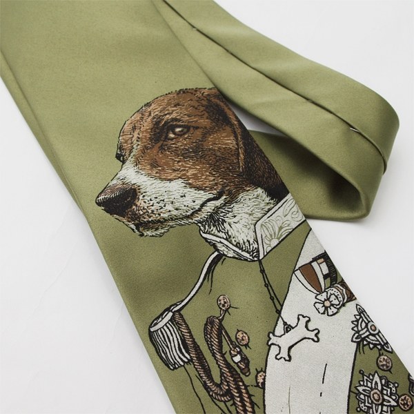 "ScatterbrainTies 手工印花领带""Regal Beagle"""