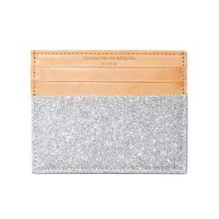 Brown Leather Silver Card Wallet by Maison Martin Margiela - $375