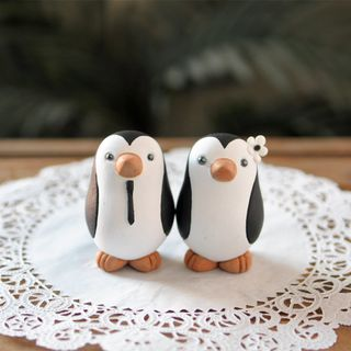Penguin Wedding Cake Topper - Small