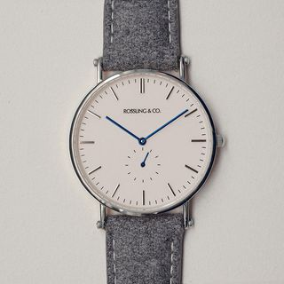Silver & White Watch by Rossling & Co. - $159