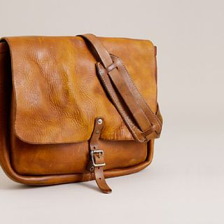 J. Crew Leather Postal Messenger Bag