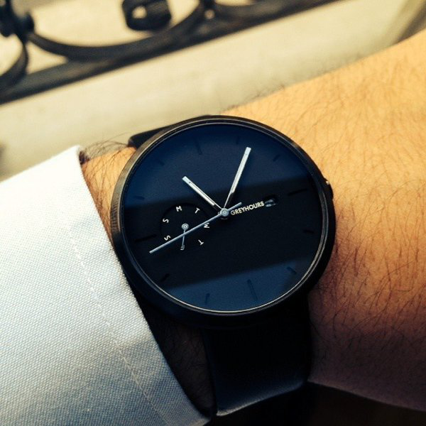 Greyhours Essential Black Watch by Julien Gueuning - $250