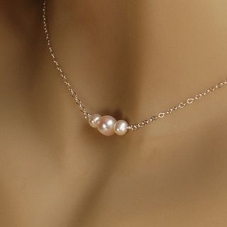 Freshwater Pearl Child Flower Girl Necklace