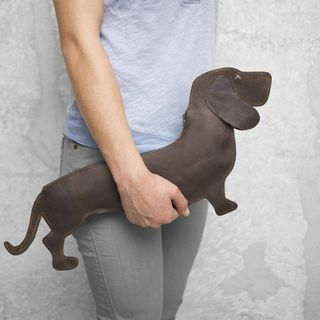 Dachshund Leather Bag - $188