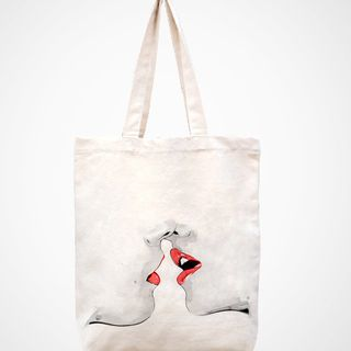 love -----handmade bag/canvas bag/tote bag/canvas tote bag/shopping bag/women bag/laptop bag的图片