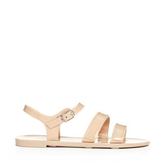 英国正品代购 ASOS New Look Jelly Nude Flat Sandals