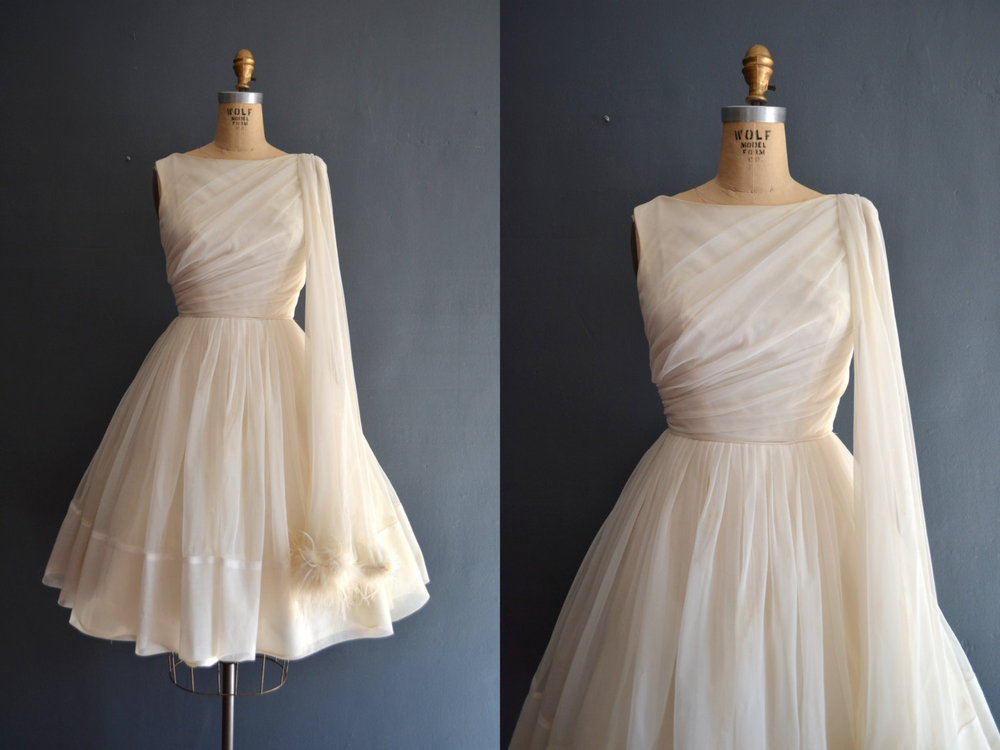 Fabiola / 50s dress / short wedding dress的图片