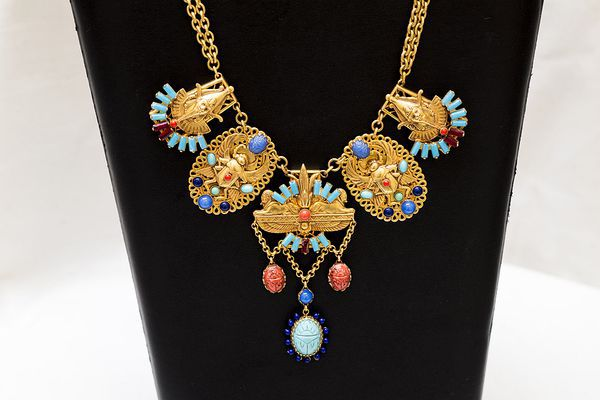 Askew London 圣甲虫项链 Splendid Egyptian Revival With Scarab Beetle Necklace的图片