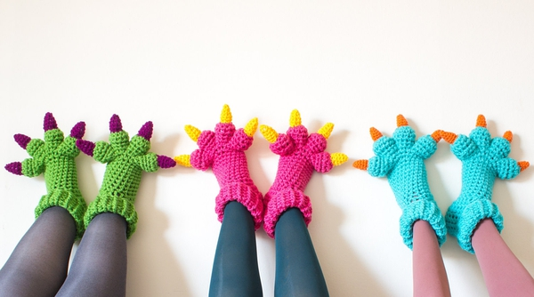 Monster Slippers CROCHET PATTERN, Kids Womens Mens Adult Crochet Slippers Pattern, Monsters Inc Costume Sulley Bigfoot D的图片