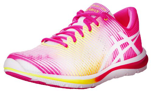 ASICS Women's GEL-Super J33 Running Shoe,White/Flash Yellow/Hot Pink,12 M US的图片