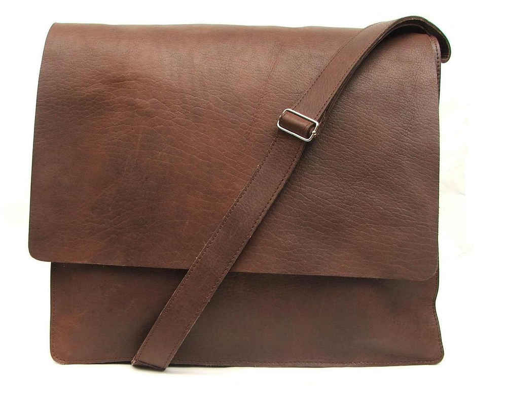 Messenger bag for Mens Women Unisex Brown Leather Satchel leather handbag leather  laptop bag Leather bag hand made的图片