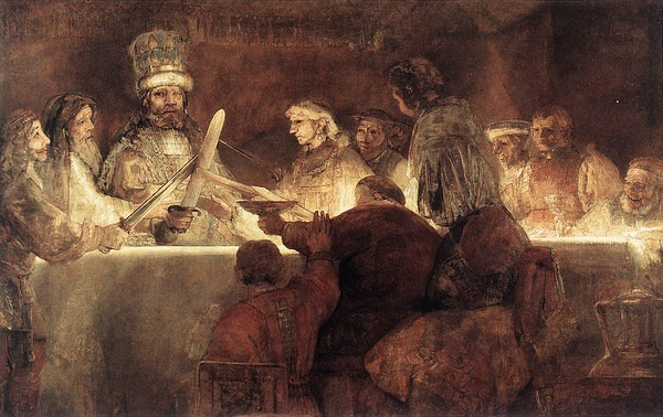 "Rembrandt ""Conspiracy of the Batavians under Claudius Civilis"