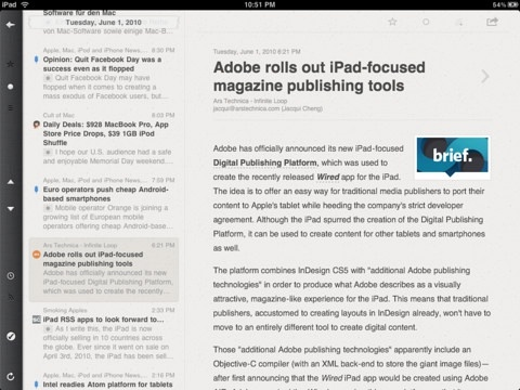 Reeder for iPad (iPad)应用截图_3