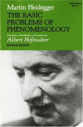 The Basic Problems of Phenomenology